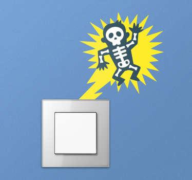 Sticker interrupteur homme électrocuté