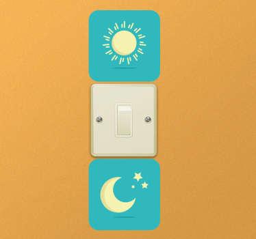 Sticker interrupteur jour et nuit