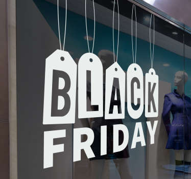 Sticker vitrine entreprise black friday