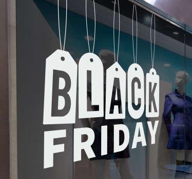 Hengende klistremerke for svart fredag salg