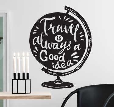 Inspirerende globus sticker