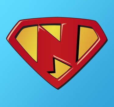 Sticker pour enfant super N