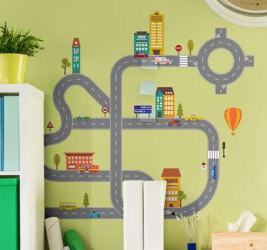 Vinilo infantil construye tu carretera