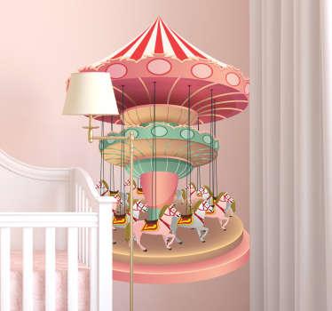Lasten sisustustarra karuselli