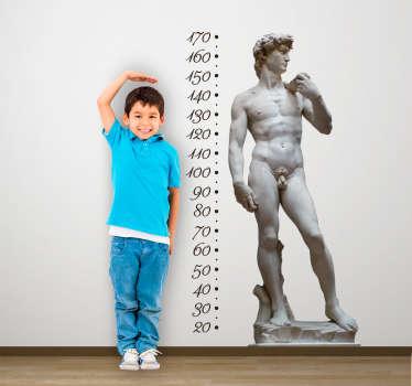 Muursticker groeimeter David de Michelangelo
