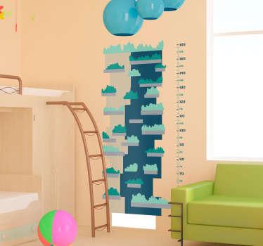 Adesivo murale per bambini ottimo per decorare la stanza dei più piccoli, ma in modo funzionale, potendo così controllare la crescita dei tuoi figli.