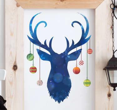 Adesivo cervo Natale per decorare