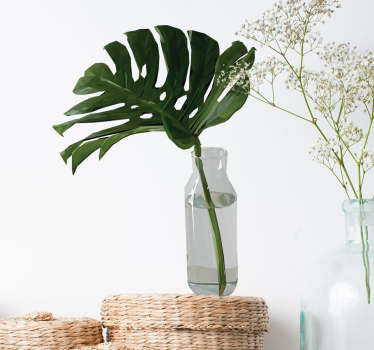 Wandtattoo Fensterblatt in Vase