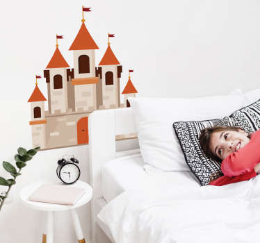Sticker enfant château dessin