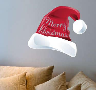 Adesivo Natalizio cappello Babbo Natale