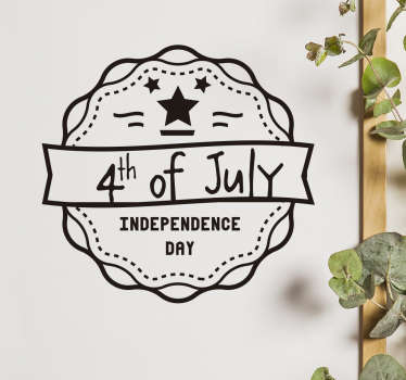 Celebrate the 4th of July with the right decoration. Come in the right mood for Independence Day with this great 4th of July sticker.