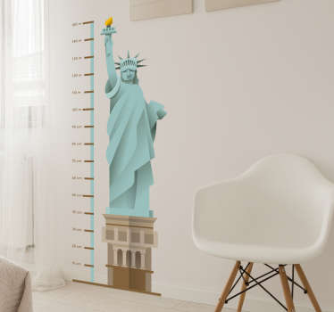 Statue of liberty height chart