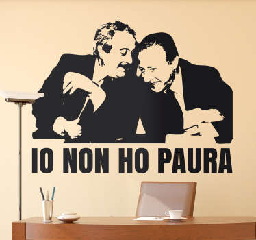 Character wall sticker design of the personality of Falcone and Borsellino in silhouette style. Available in any required size.