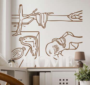 Wandtattoo Dalí Uhren