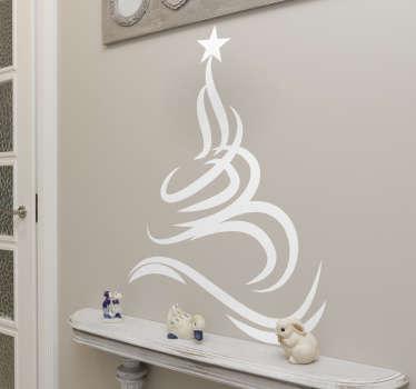 Wandtattoo Wohnzimmer filigraner Weihnachtsbaum