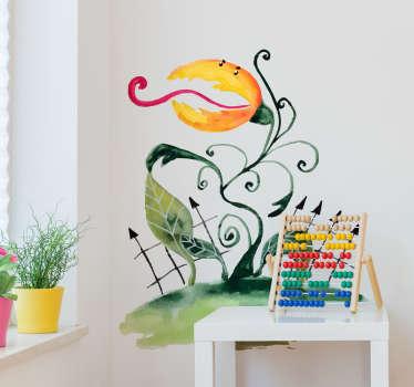 Sticker dessin plante carnivore