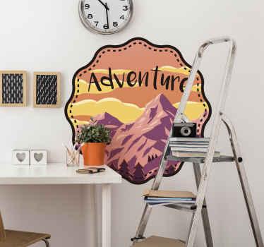 Wandtattoo Berge mit Aufschrift