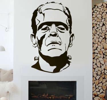 Frankenstein halloween veggen klistremerke