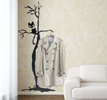 Check out our terrifying Halloween coat rack sticker. Give a scary atmosphere to your space thanks to our wall stickers.