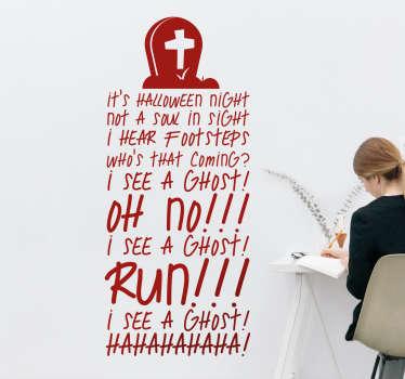Halloween lyrics vardagsrumsvägg sticker