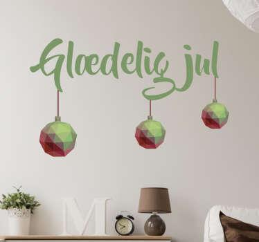Glædelig jul wallsticker