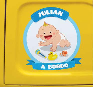 Pegatinas coche personalizables para señalizar con claridad y de forma original que en tu coche viaja un niño pequeño.