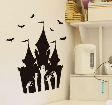 Halloween slott halloween klistremerke