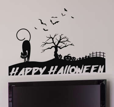 Sticker silhouette happy Halloween