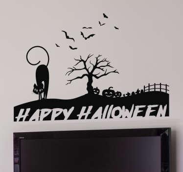 Sticker silhouette happy Halloween