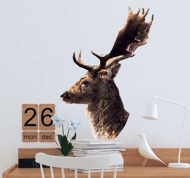 Adesivo animali profilo cervo decorativo