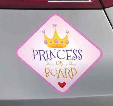 Autoaufkleber Princess