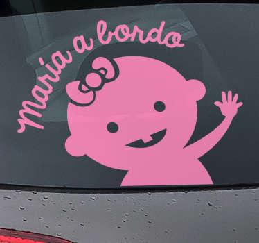 Autocolante personalizado para carro menina
