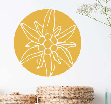 Sticker floral alpes