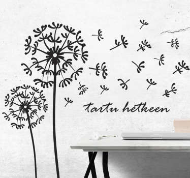 Decorate the home with our original plant wall stick design of a dandelion prints in a fan style.It is available in different colour options.
