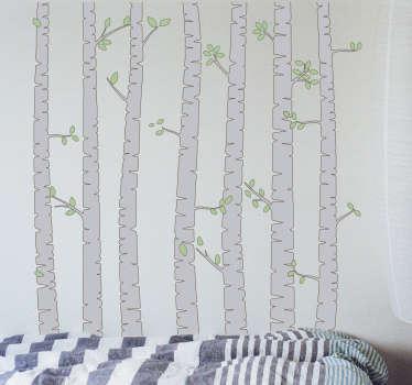 Sticker albero di Betulla