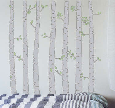 Træstammer wallsticker