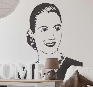Vinilo decorativo retrato Eva Perón