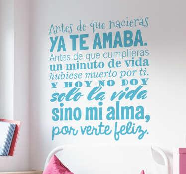 Vinilos de frases bonitas, ideales para decorar tu casa y declarar tu amor por la familia.