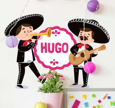 Sjov personlig mexikansk klistermærke