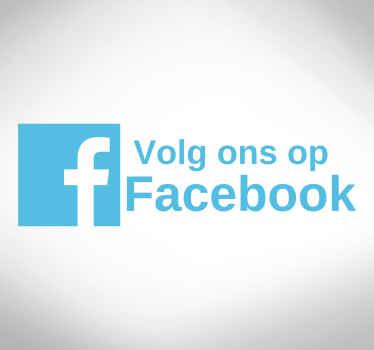Wilt u uw klanten gemakkelijker kunnen bereiken? Breng uw klanten met deze Facebook raamsticker en facebook etalage sticker naar uw Facebook pagina!