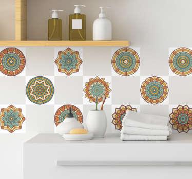 Vinil decorativo azulejo calendoscópio