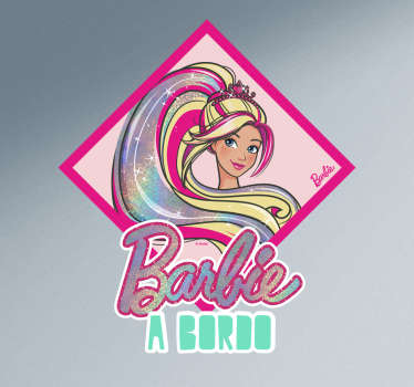 Autocolante para carro Barbie a bordo