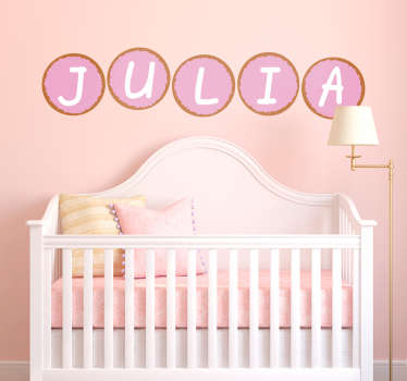 Rusk with mice girl window decal to decorate the bedroom space of any kid . It is customisable with name of choice. Easy to apply on flat surface.