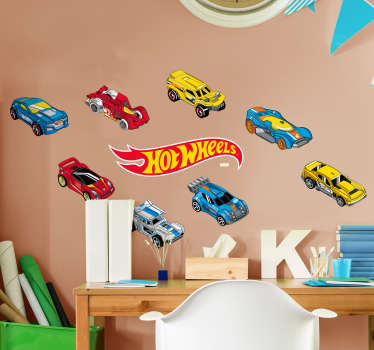 Conjunto de Stickers Hot Wheels