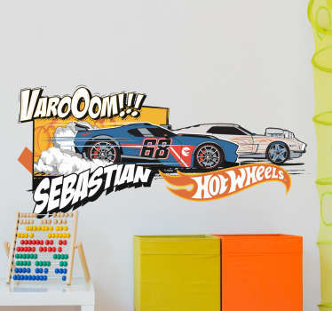 Vinilo personalizable juguetes Hot Wheels