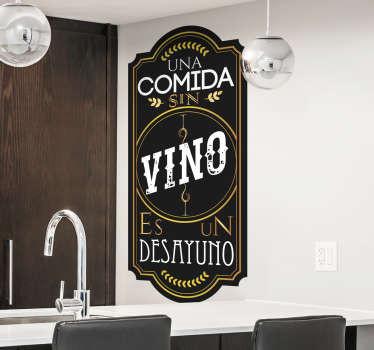Vinilo para cocina etiqueta de vino