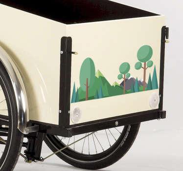 Christania cykel sticker med motiv af skov. Sjov og naturlig måde at dekorere denne ikoniske cykel, passer perfekt til originale mål.