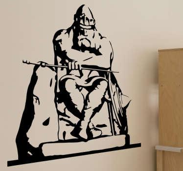 Holgar danske silhuet wallsticker