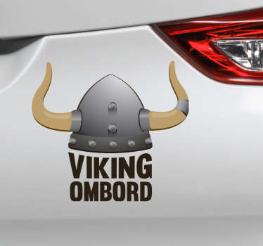 Viking ombord bil sticker