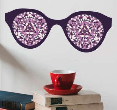 Geometriske briller wallsticker